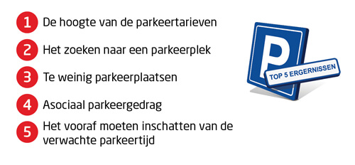 Top 5 parkeer ergernissen